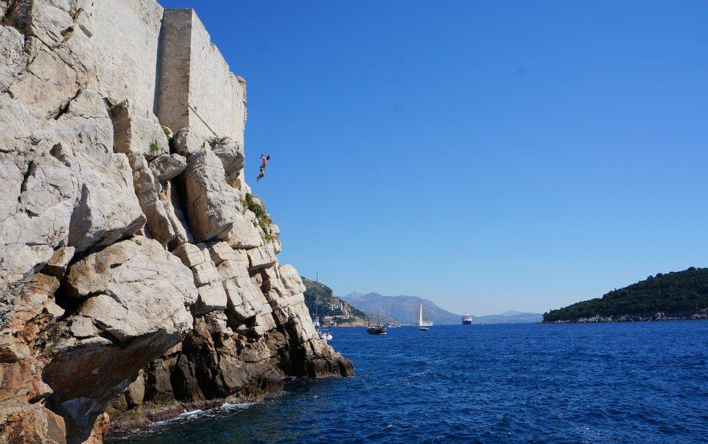 Cliff Jumping at Buza