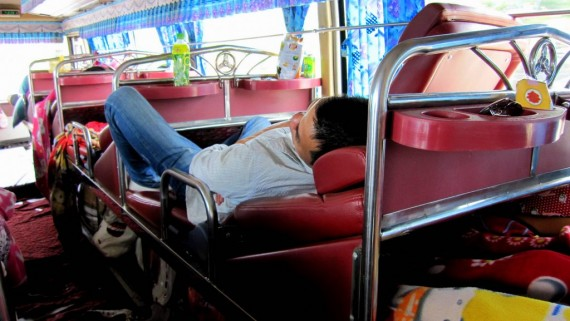 Sleeper Bus from Vientiane, Laos to Hanoi, Vietnam