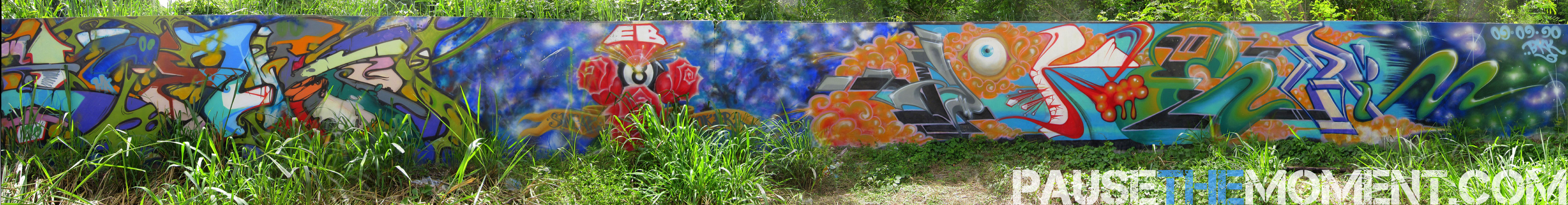Panoramic Photo of Graffiti in Chiang Mai, Thailand