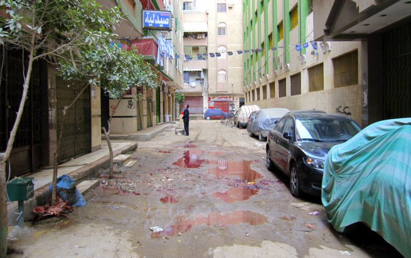Blood in the streets of Cairo