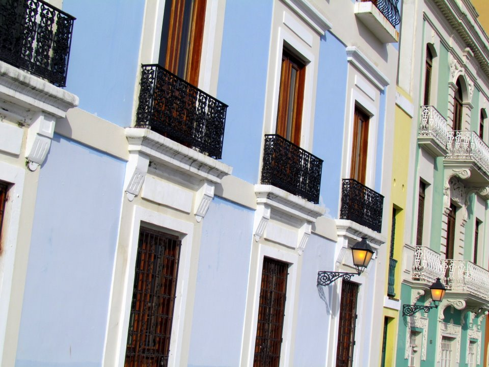 Pastel Buildings in San Juan