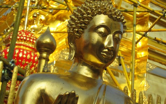 Golden Buddha Statue at Doi Suthep