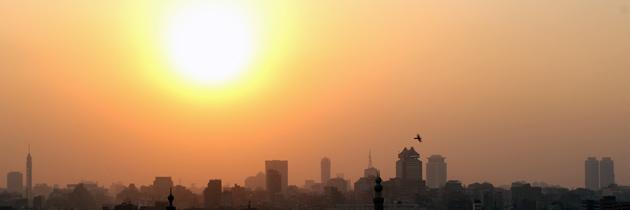 Sunset Al-Azhar Park - Cairo, Egypt