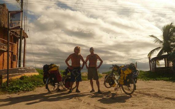 Ben and Gabriel in Cancun