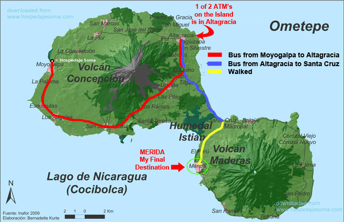 Map of Ometepe