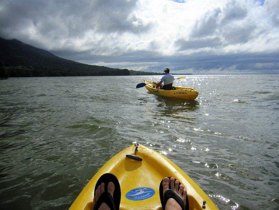 Kayaking Lake Nicaragua