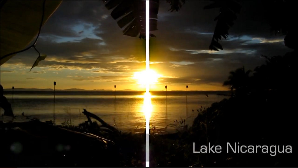 Timelapse Video of a Sunset over Lake Nicaragua