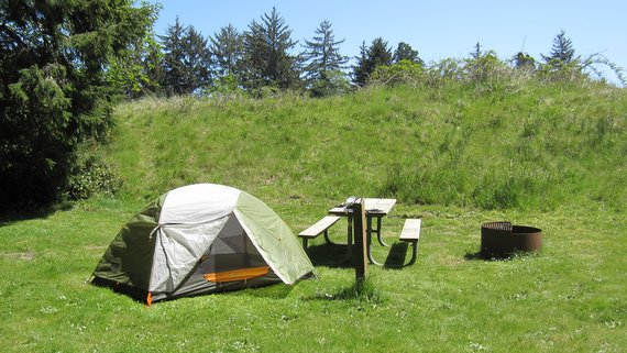 Camping at Fort Stevens State Park - Oregon