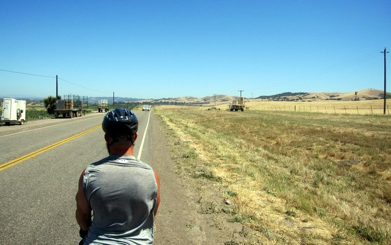 Cycling through Guadalupe, CA