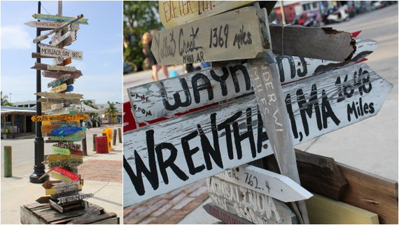 Wooden Signs Key West, Florida