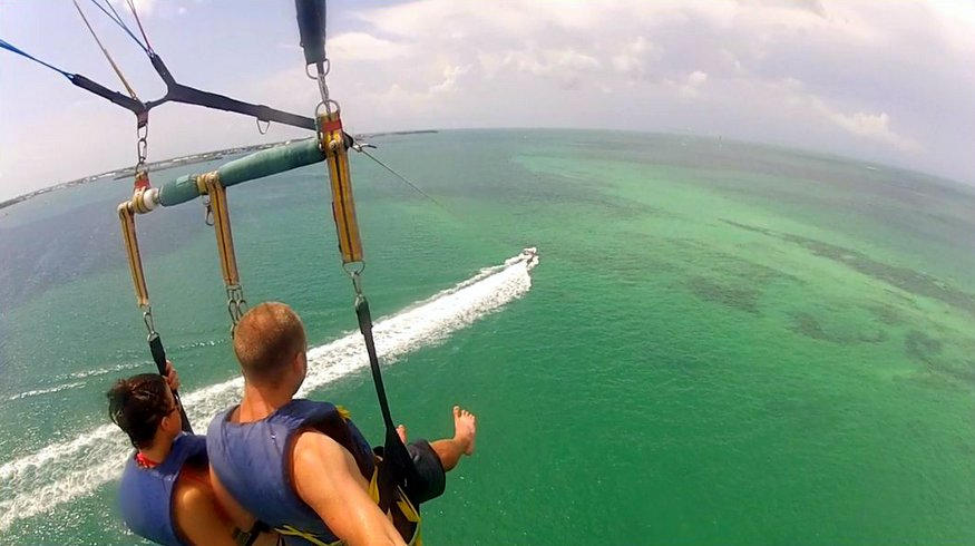 Parasailing with Fury Key West