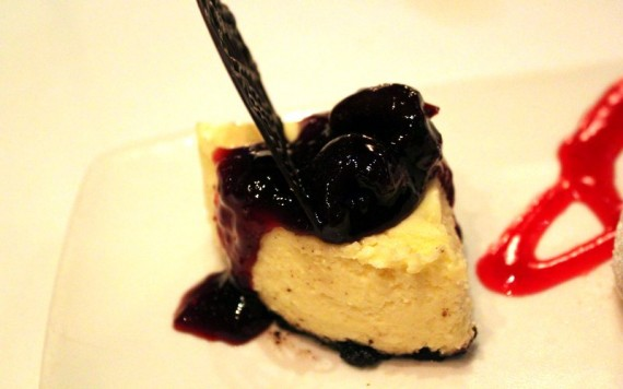 Mini Cheesecake at RED Steakhouse