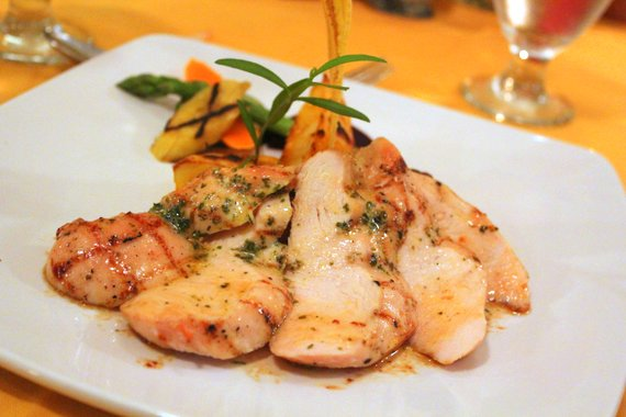 Marshalls St. Kitts -  Grilled Breast of Chicken served with Tarragon Butter