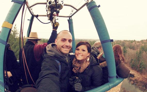 Liz & I on a Hot Air Balloon Ride - New Hampshire
