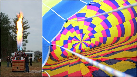 Inflating our Hot Air Balloon