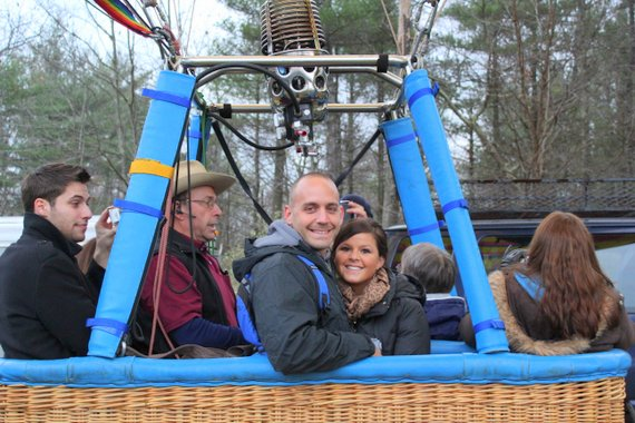 Liz & I on our first ever Hot Air Balloon Ride in New Hampshire