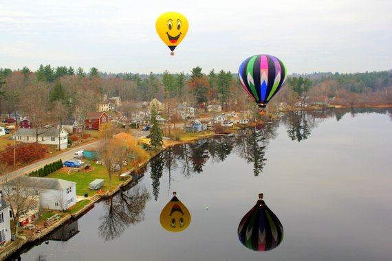 Hot Air Balloon Ride Reflections in New Hampshire