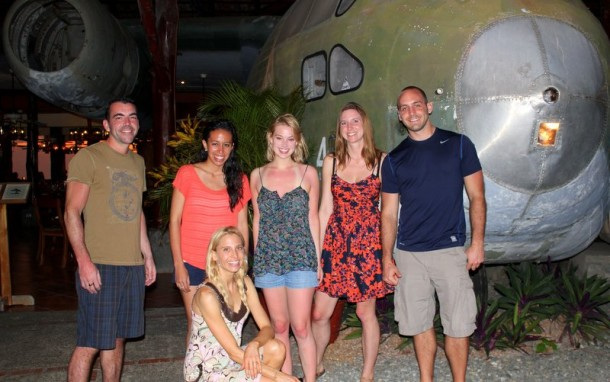 Dinner at El Avion - Manuel Antonio Costa Rica