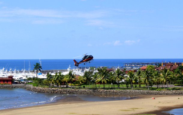 Helicopter ride to Los Suenos Marriott