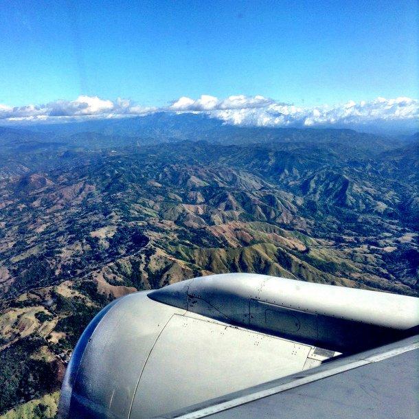 Flying into San Jose, Costa Rica