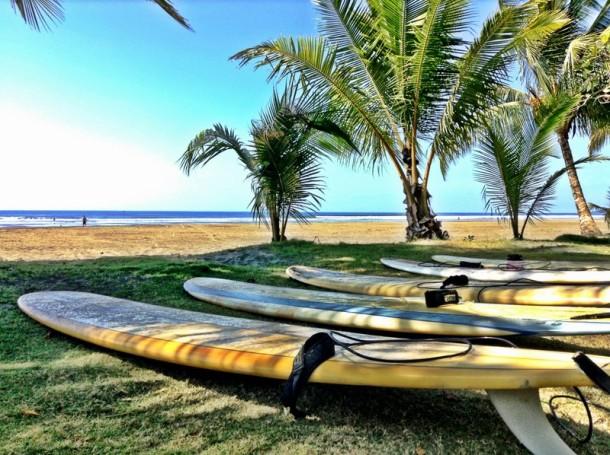 Surfing in Playa Esterillos Este Costa Rica