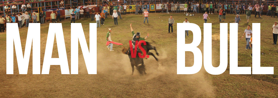 VIDEO: Man vs. Bull – BULL WINS!
