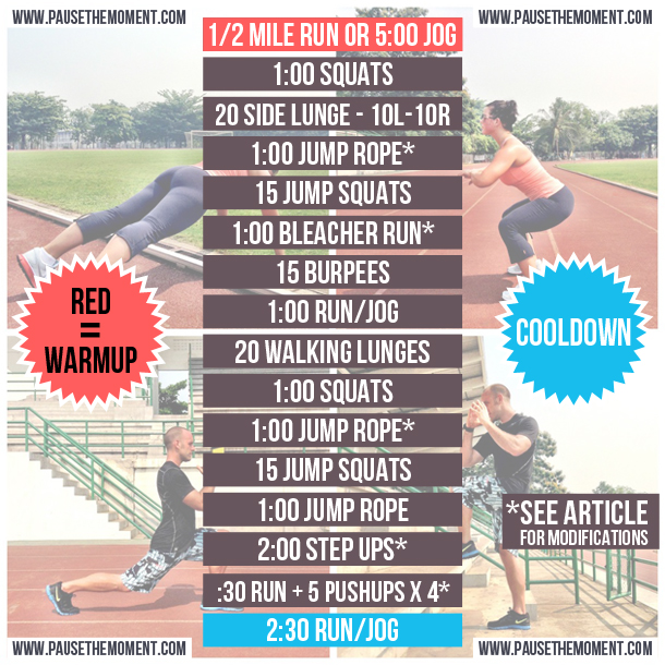 Free Bodyweight Workout - Cardio Crush!