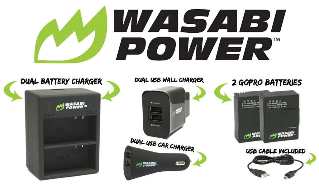 Review Wasabi Battery Kit For Gopro