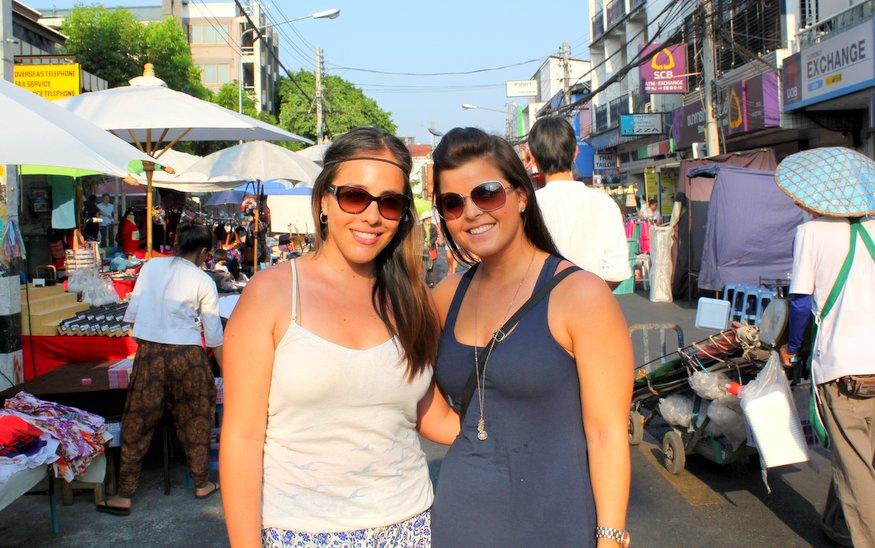 Liz & Fernanda - Sunday Night Market - Chiang Mai, Thailand