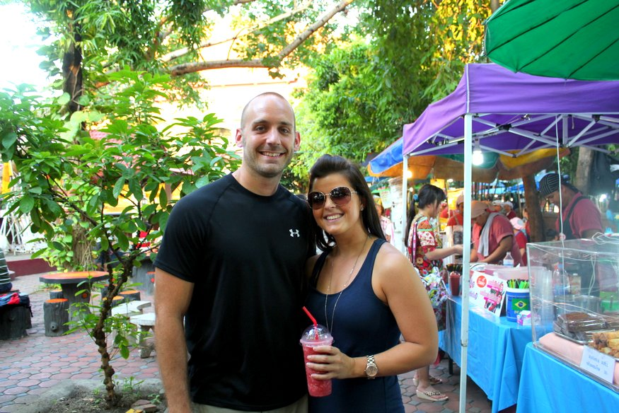 Ry & Liz - Sunday Night Market - Chiang Mai, Thailand
