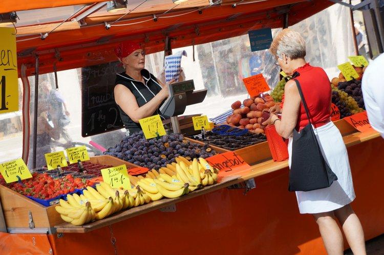 Fruit Market in Munich, Germany