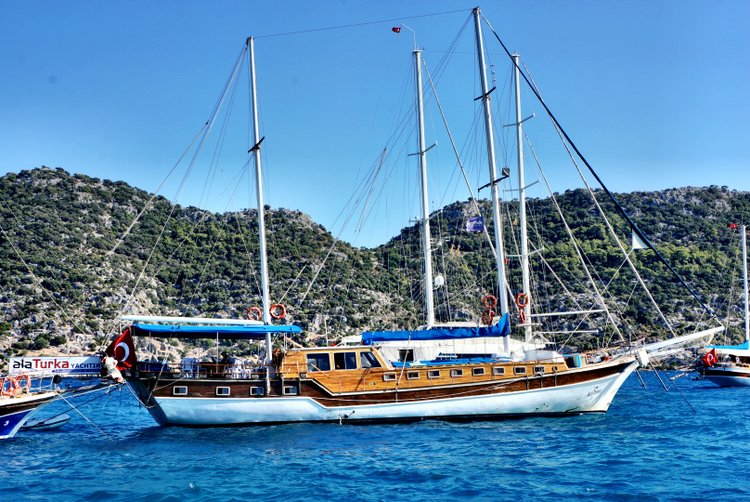 Alaturka Blue Cruise - Docked in Kekova