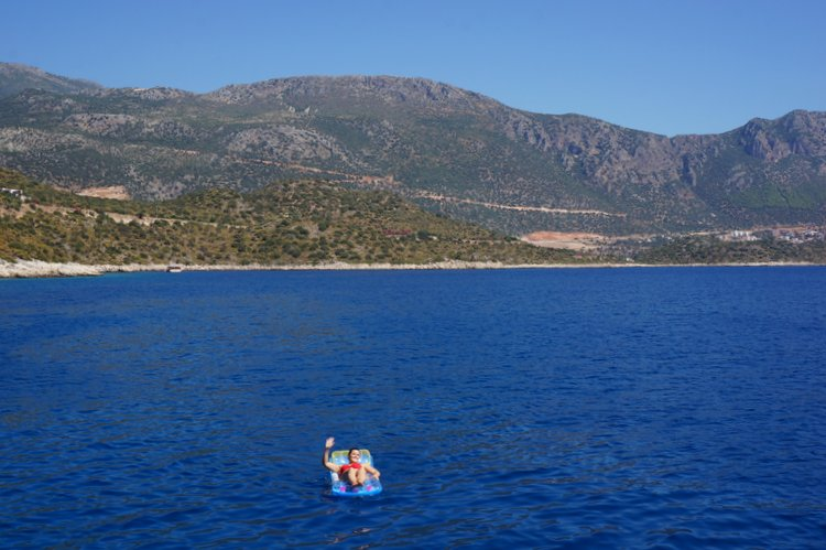 Floating in the Mediterranean Sea