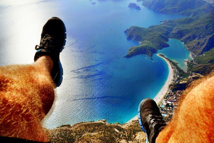 Paragliding in Oludeniz, Turkey