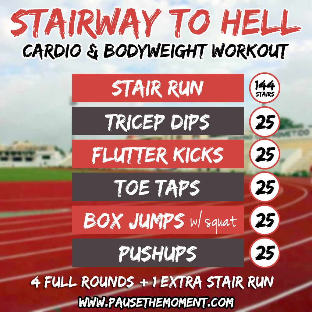Stairway To Hell Cardio And Bodyweight Workout