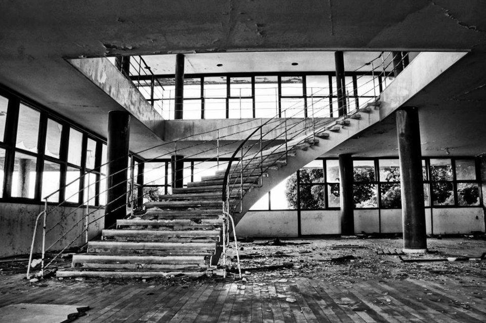 Kupari Hotel Staircase