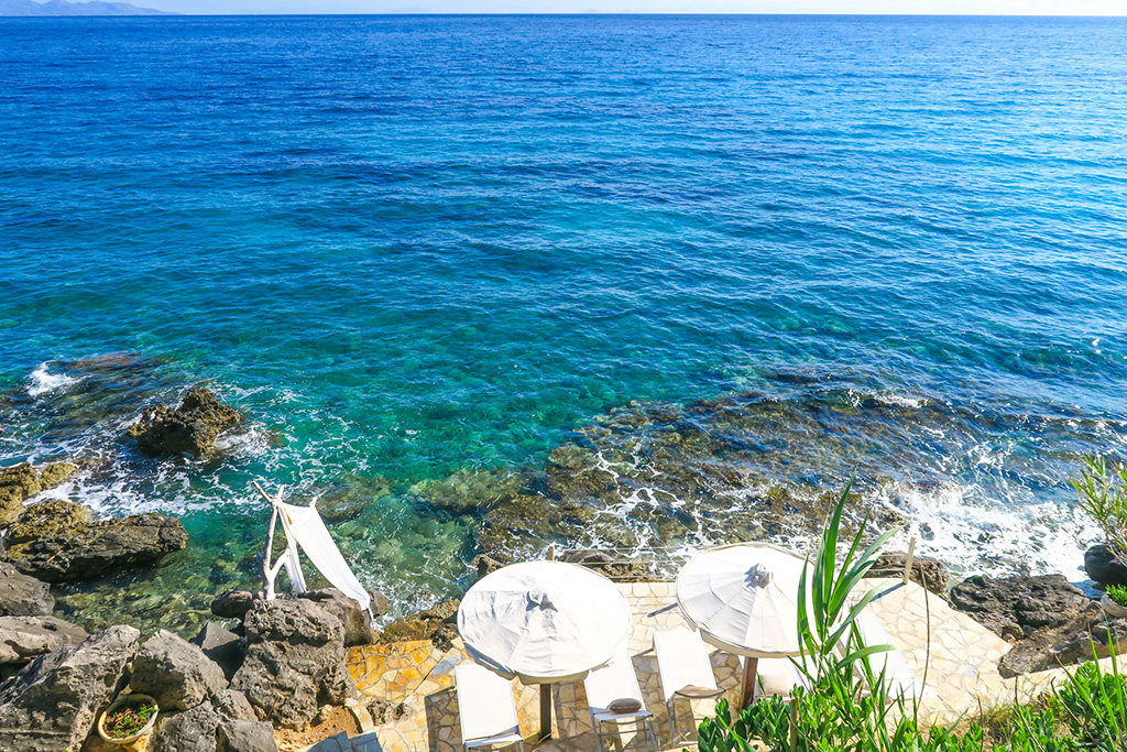 Sunbeds - Paradisso Villas - Zakynthos, Greece