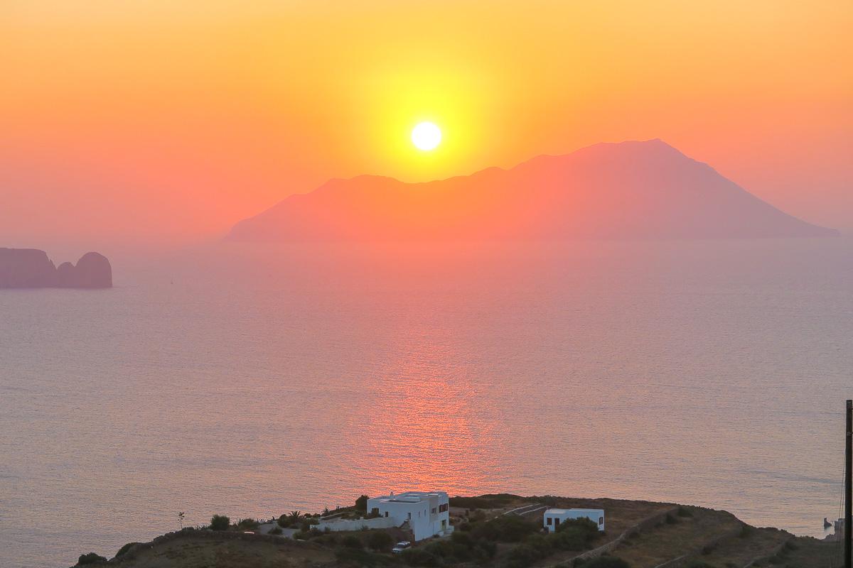 Sunset from Plaka - Milos, Greece