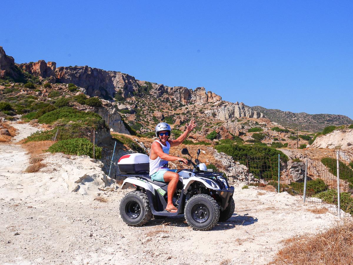 Exploring Milos, Greece