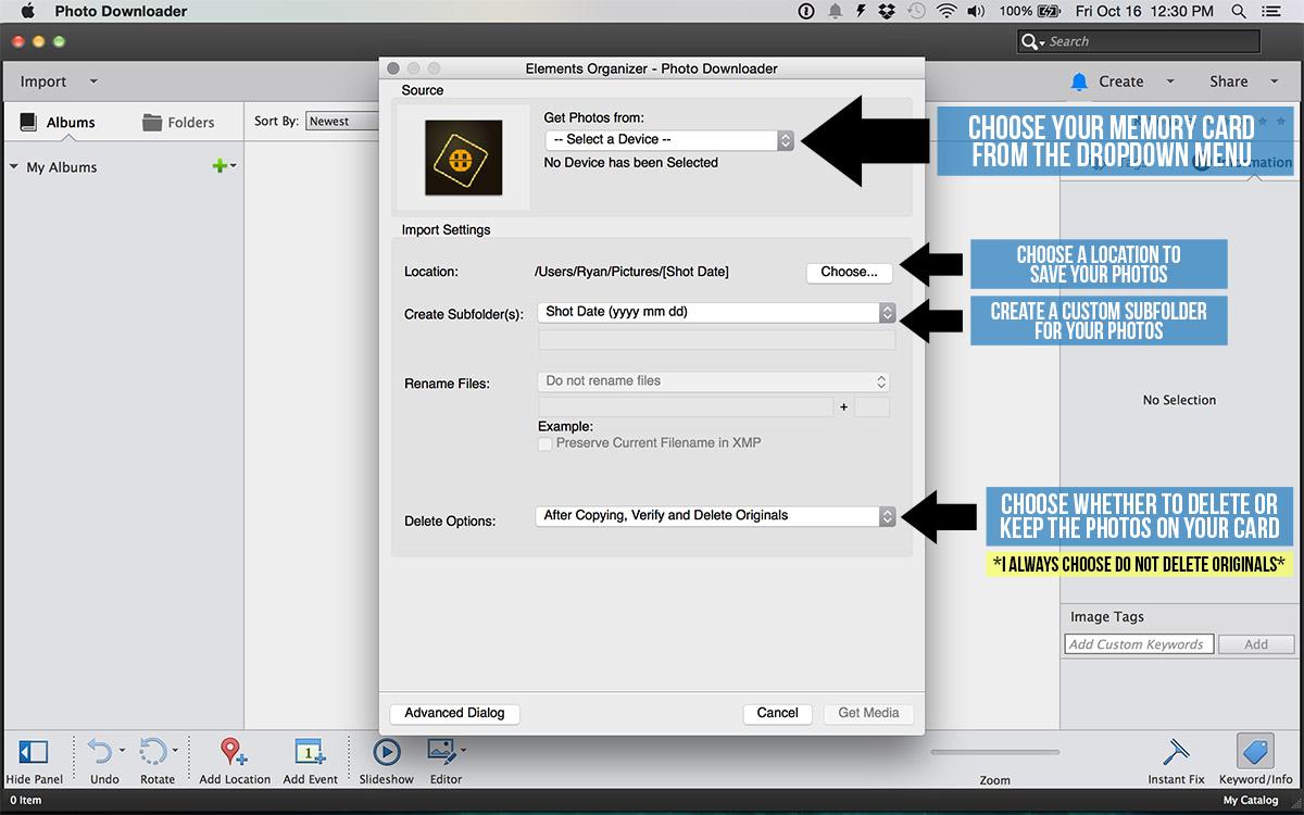 adobe photoshop elements organizer import tutorial
