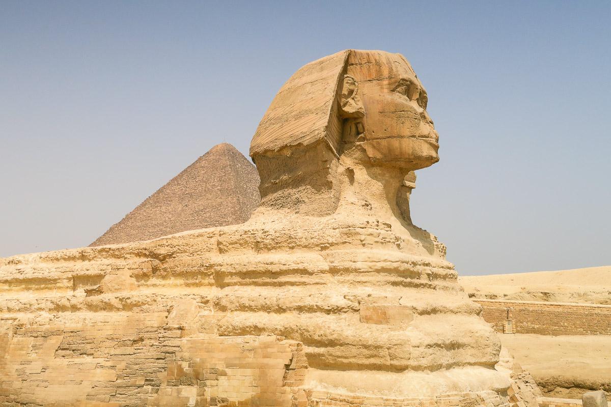 Sphinx - Pyramids of Giza - Cairo, Egypt