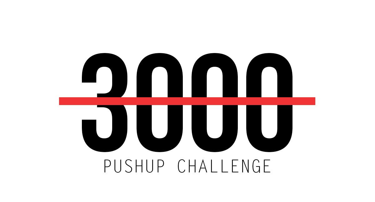 3000 Pushup Challenge Fitness Challenge
