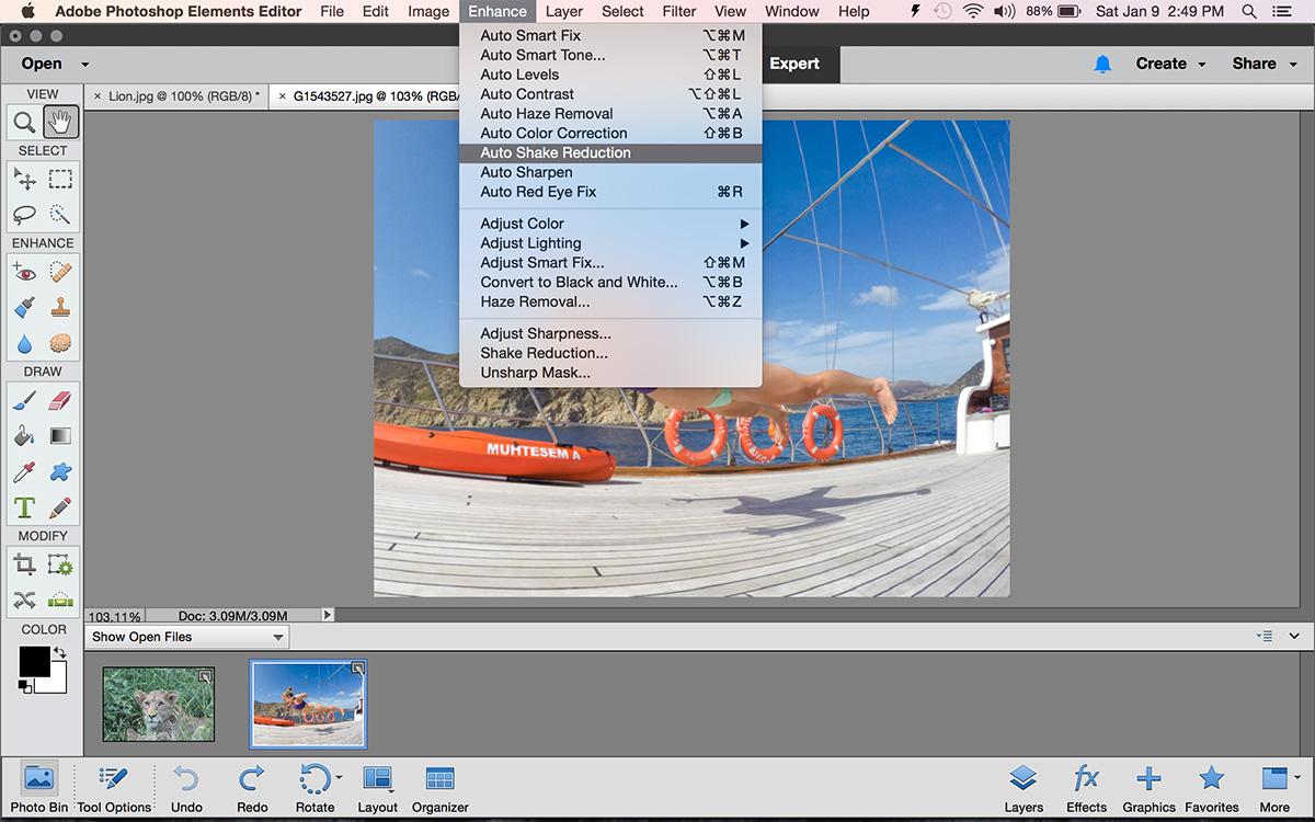 Adobe photoshop elements how to use the shake reduction tool adobe photoshop elements shake reduction tool baditri Choice Image