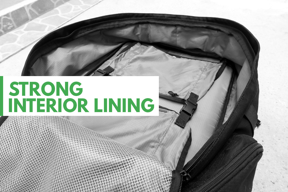 Tortuga Travel Backpack Interior Lining