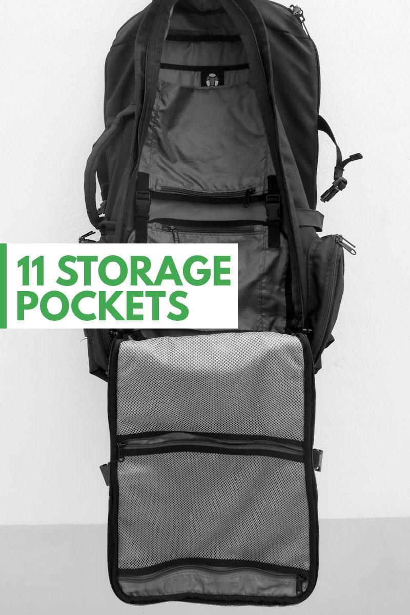 Tortuga Travel Backpack Storage Pockets