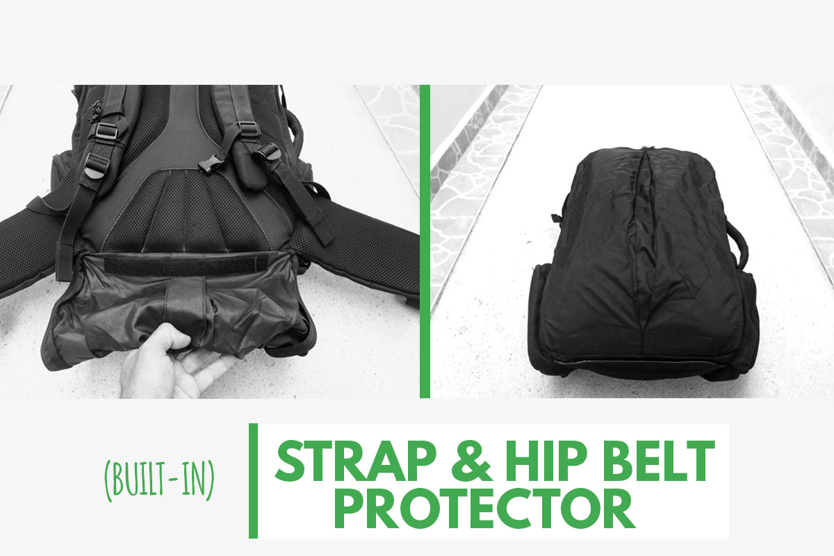 Tortuga Travel Backpack Strap and Hip Belt Protector