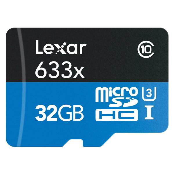 DJI Phantom 4 Memory Card - Lexar MicroSHDC Card 32GB