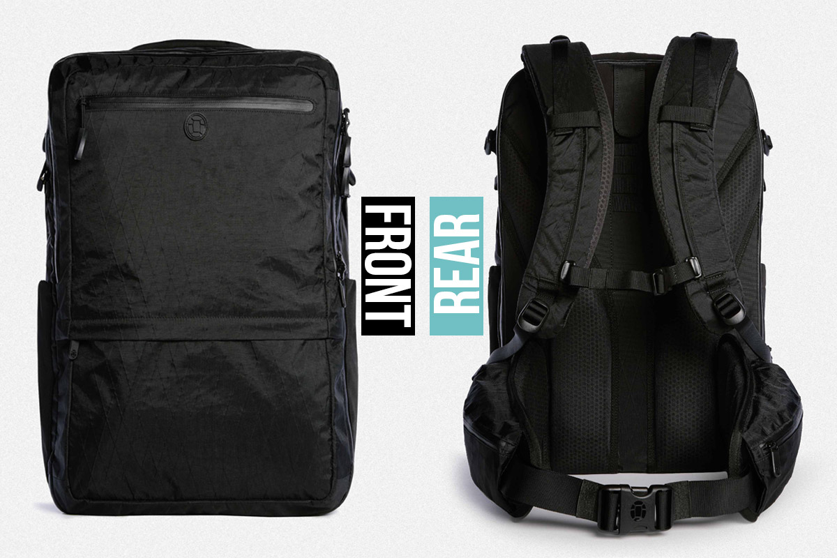 Tortuga Outbreaker Backpack Review Front and Rear View