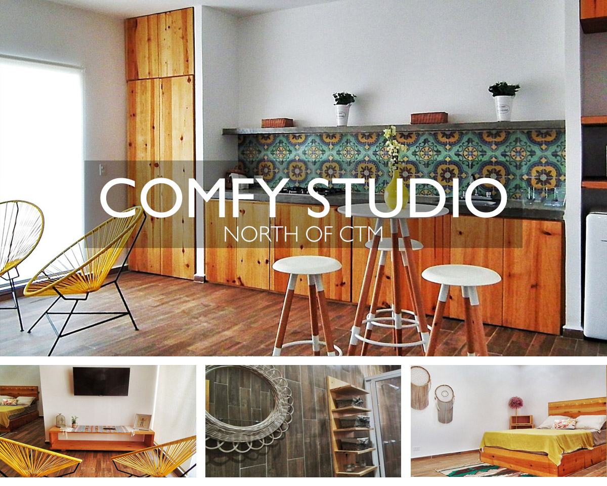 Comfortable Studio Apartment Airbnb Playa del Carmen