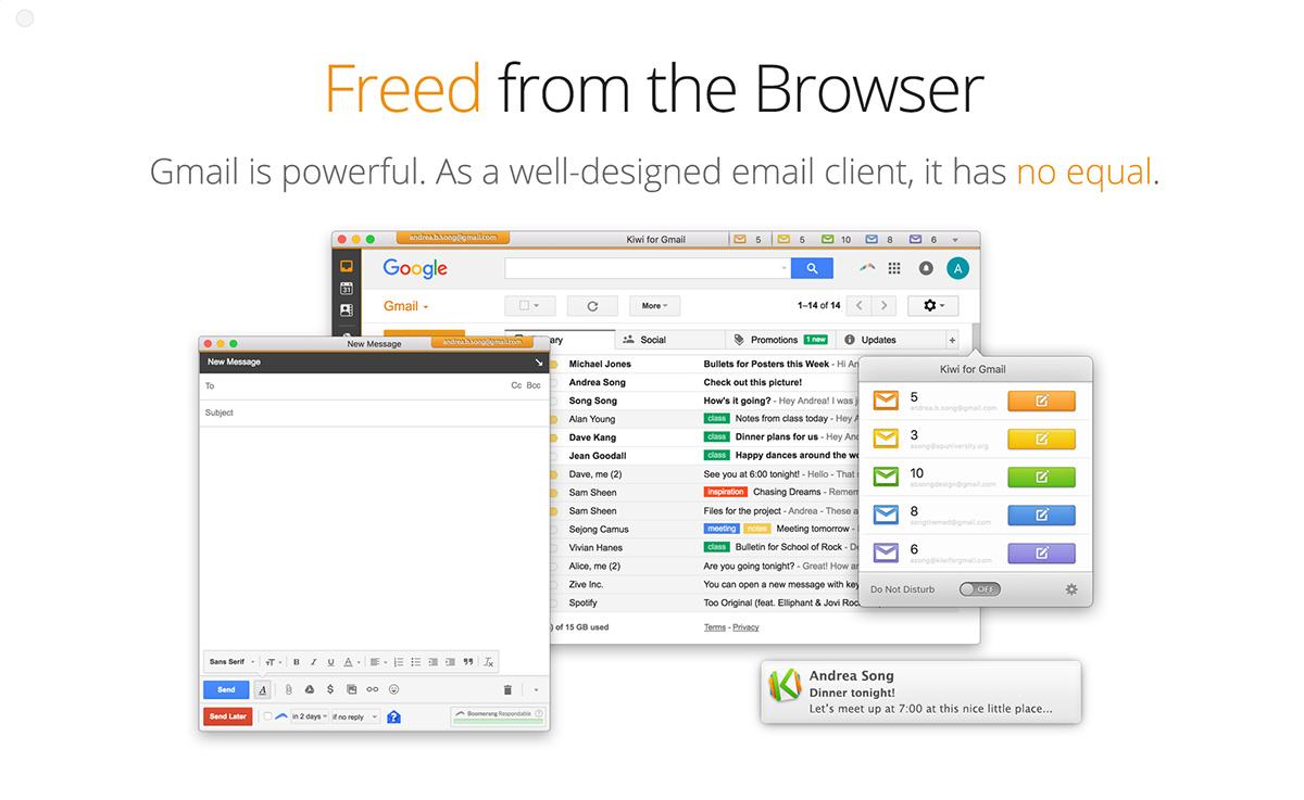 Kiwi for Gmail - Standalone App